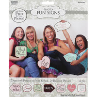 Hen Party Photo Props - Pack of 24