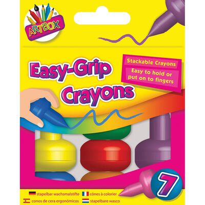 Easy-Grip Crayons Pack of 7 image number 1