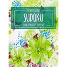 Pocket Puzzles Green Floral Sudoku Book image number 1
