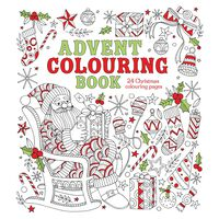 Advent Colouring Book: 24 Christmas Colouring Pages