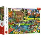 Cottage in the Mountains 6000 Piece Jigsaw Puzzle image number 1