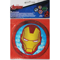 Marvel Avengers Party Invitations - 6 Pack