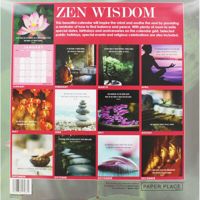 Zen Wisdom 2020 Calendar and Diary Set image number 2