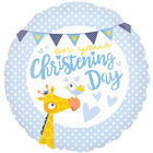 18 Inch Blue Christening Day Foil Helium Balloon image number 1