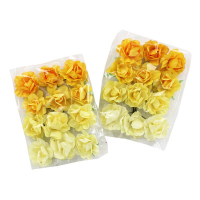 24 Yellow Paper Flowers image number 1