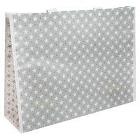 Grey and White Stars Reusable Shopping Bag