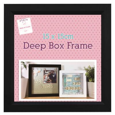 Black Deep Box Frame - 15cm x 15cm image number 2