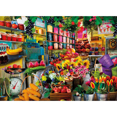 Sweets & Flower Shop 500 Piece Jigsaw Puzzle image number 2