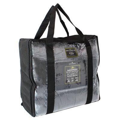 Grey Super-Soft Velvet Touch Weighted Blanket 150 x 200cm - 4kg image number 1