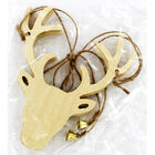 Wooden Stag Head Decoration - 2 Pack image number 2