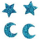 Glitter Star and Moon Embellishments - 12 Pack image number 3