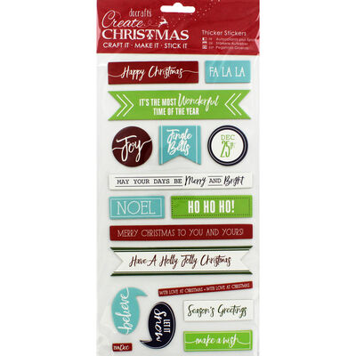 Christmas Sentiments Thick Christmas Stickers image number 1