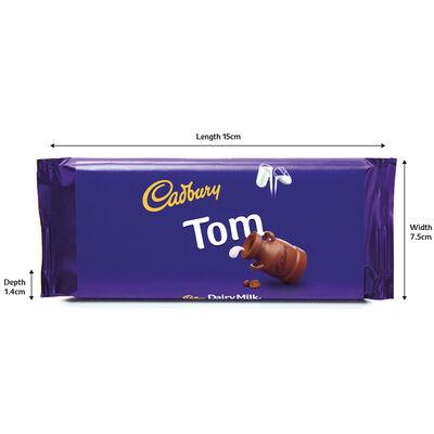 Cadbury Dairy Milk Chocolate Bar 110g - Tom image number 3