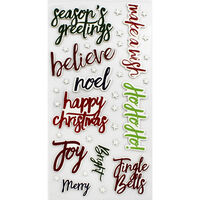 Christmas Words Thick Christmas Stickers