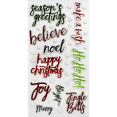 Christmas Words Thick Christmas Stickers image number 2