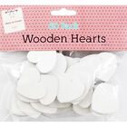 White Wooden Hearts - 60 Pack image number 1