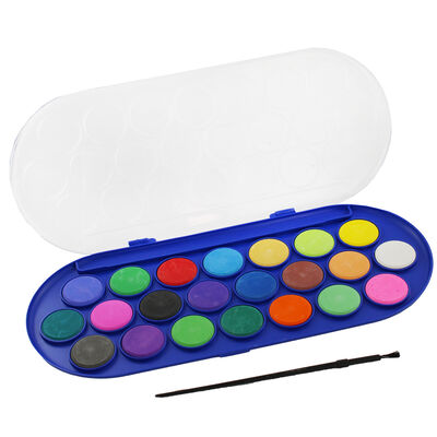 Colour Crazy 22 Watercolour Paints and Brush Set image number 1