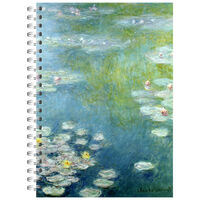 A4 Wiro Monet Waterlilies Notebook
