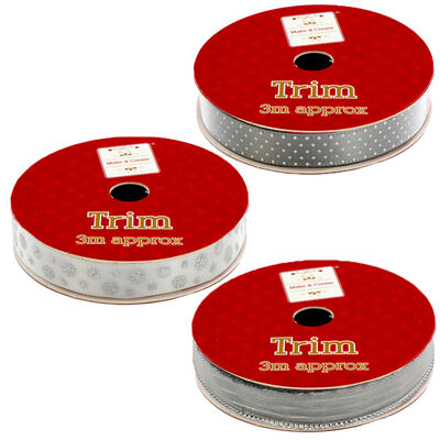 Christmas Ribbon Trim: Assorted 3m image number 3