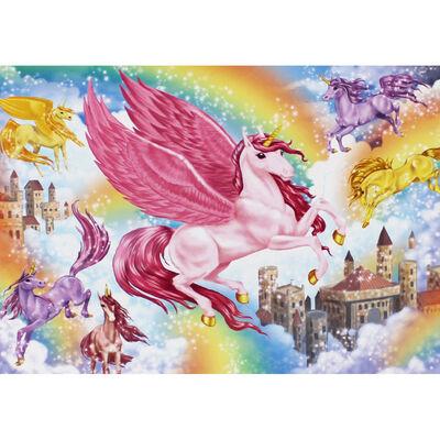 Unicorn Kingdom 100 Piece Sparkly Jigsaw Puzzle image number 2