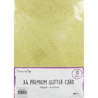 A4 Glitter Card Gold 300gsm 10 Sheets