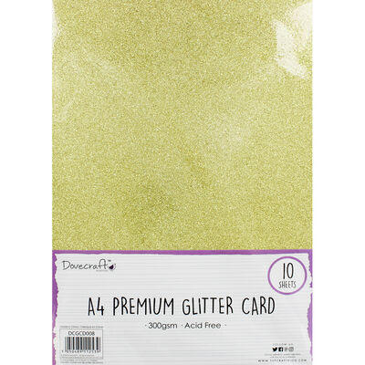 A4 Glitter Card Gold 300gsm 10 Sheets image number 1