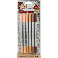 Dual Nib Nude Brush Pens - 6 Pack