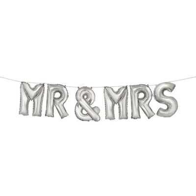 14 Inch Mr and Mrs Helium Balloons - 7 Pack image number 2