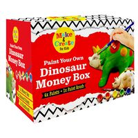 Paint Your Own Dinosaur Money Box