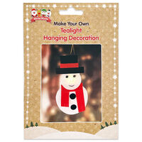 Make Your Own Tealight Hanging Decoration: Snowman