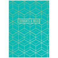 A5 Gold Geometric Notebook