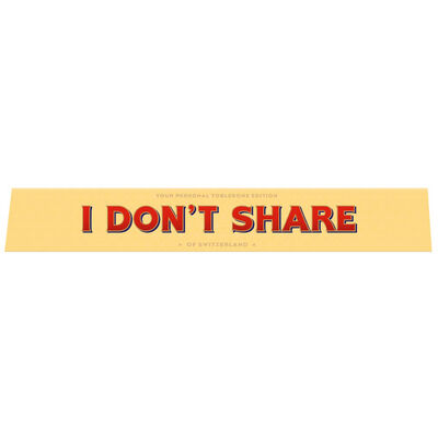 Toblerone Milk Chocolate 100g – I Don't Share image number 1