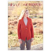 Hayfield Bonus Chunky: V-Neck Cardigan Knitting Pattern 8297