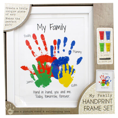My Family Handprint Frame Set image number 2