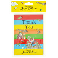 David Walliams Thank You Cards: Pack of 8