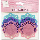 Small Pastel Felt Doilies - 6 Pack image number 1