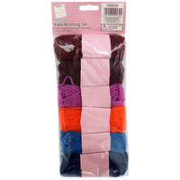Assorted Yarn Knitting Set: Pack of 6