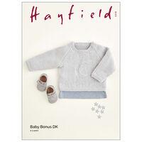 Hayfield Baby Bonus DK: Crescent Moon Sweater Knitting Pattern 5418