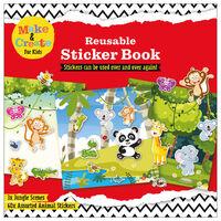 Reusable Sticker Book: Jungle Scenes