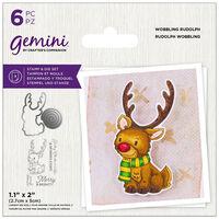 Gemini Stamp & Die Set: Wobbling Rudolph