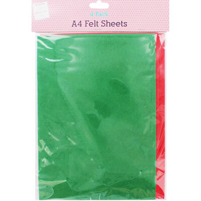 Felt Sheets: Pack of 4 image number 1
