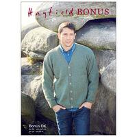 Hayfield Bonus DK: V-Neck Cardigan Knitting Pattern 8287