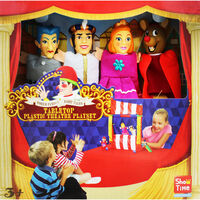Cinderella Tabletop Plastic Puppets Theatre Playset
