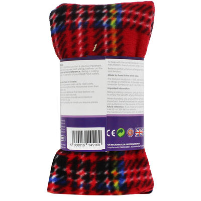 Red Tartan Lavender Microwaveable Heat Wrap image number 3