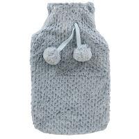 Grey Metallic Spot Super Soft Hot Water Bottle