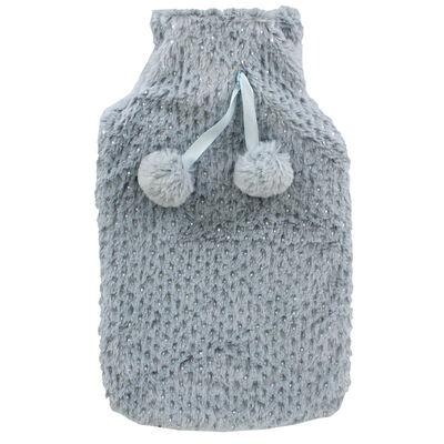 Grey Metallic Spot Super Soft Hot Water Bottle image number 2