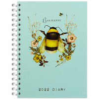 A5 Bee Happy 2022 Day a Page Diary