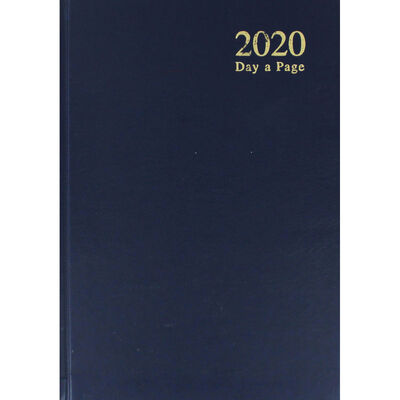 A5 Blue 2020 Day a Page Diary image number 1