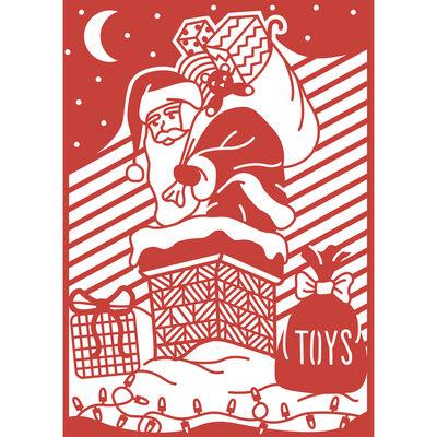 Santa Craft A Card Metal Cutting Die image number 2