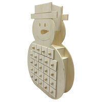 Wooden Snowman Advent Calendar